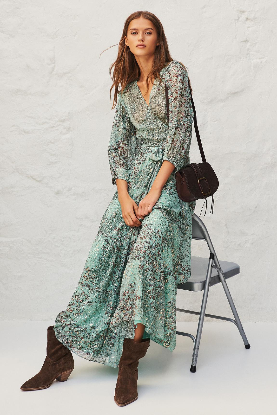 Oriane Dress - Green-2