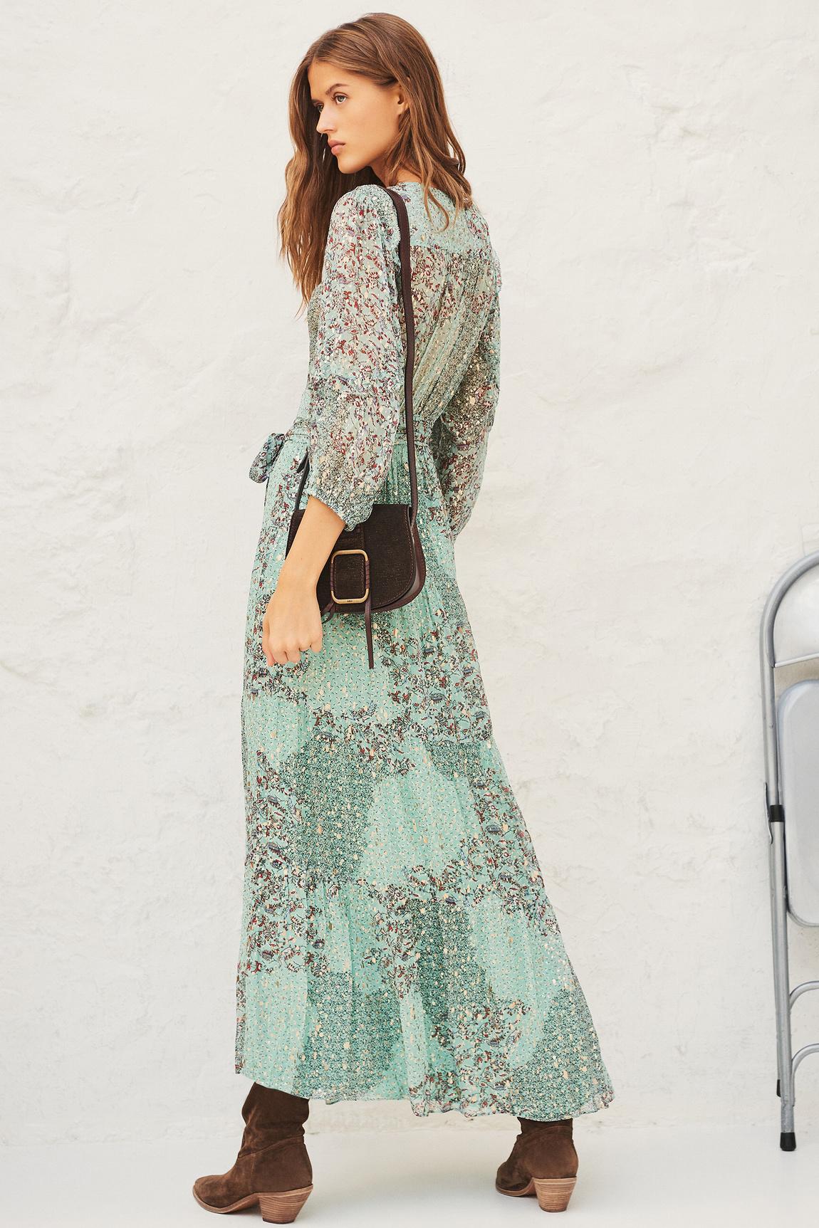 Oriane Dress - Green-5