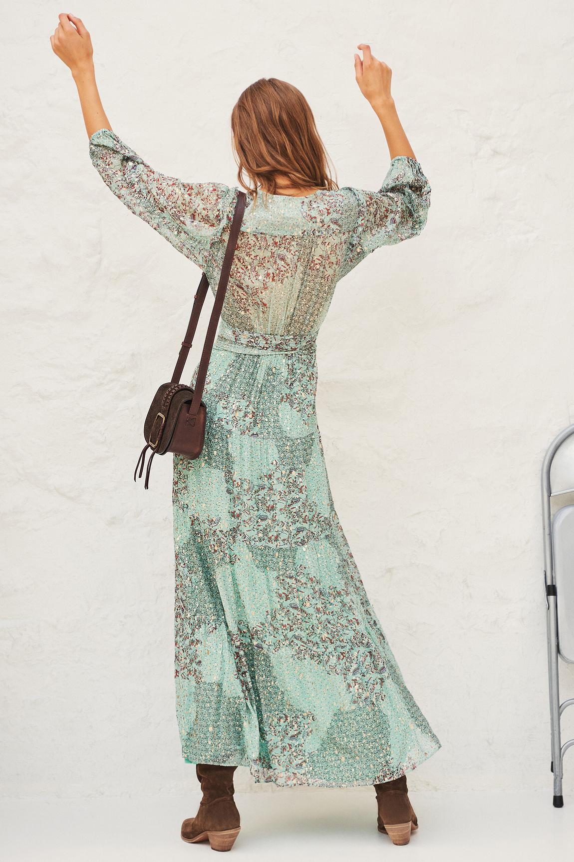 Oriane Dress - Green-6