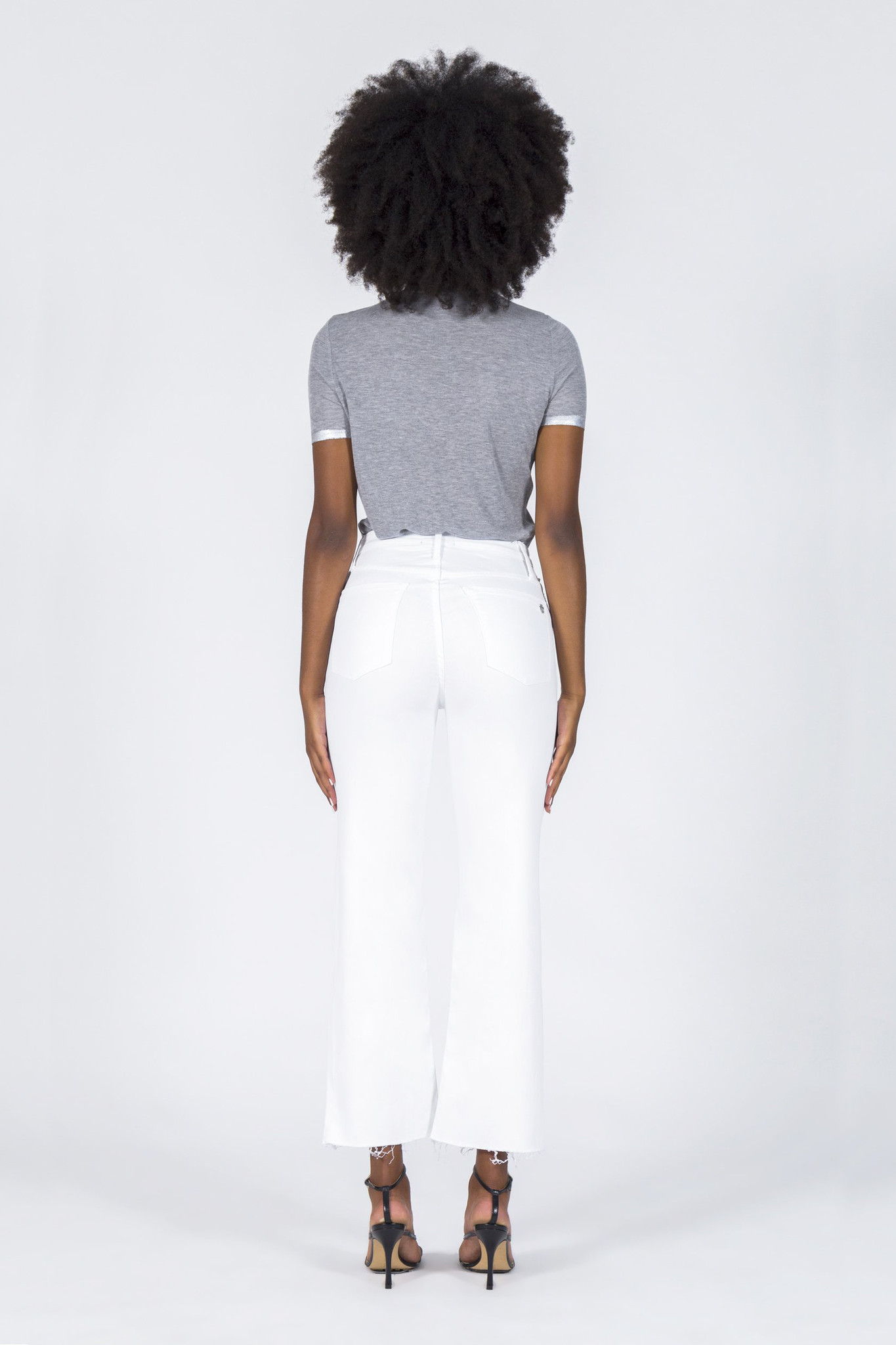 Marisa Relaxed Straight Fray Jeans - Snow White-4