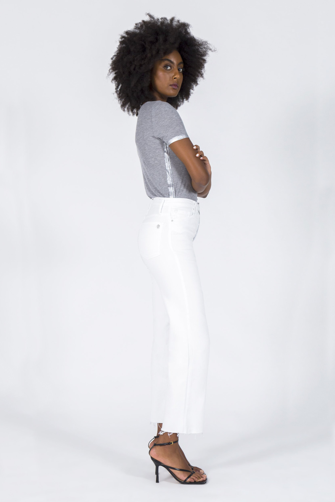 Marisa Relaxed Straight Fray Jeans - Snow White-2