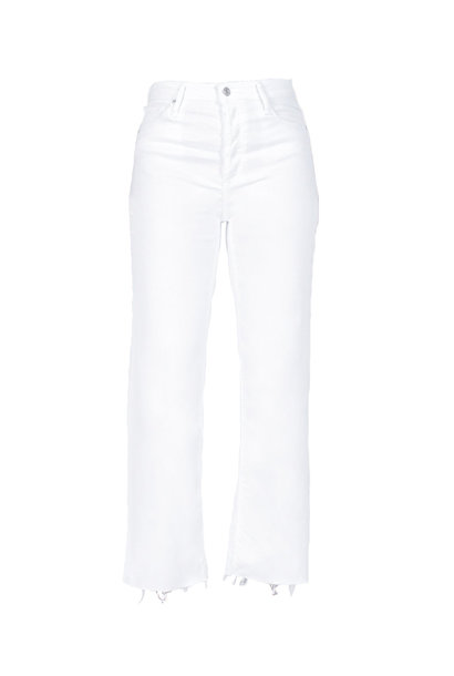 Marisa Relaxed Straight Fray Jeans - Snow White