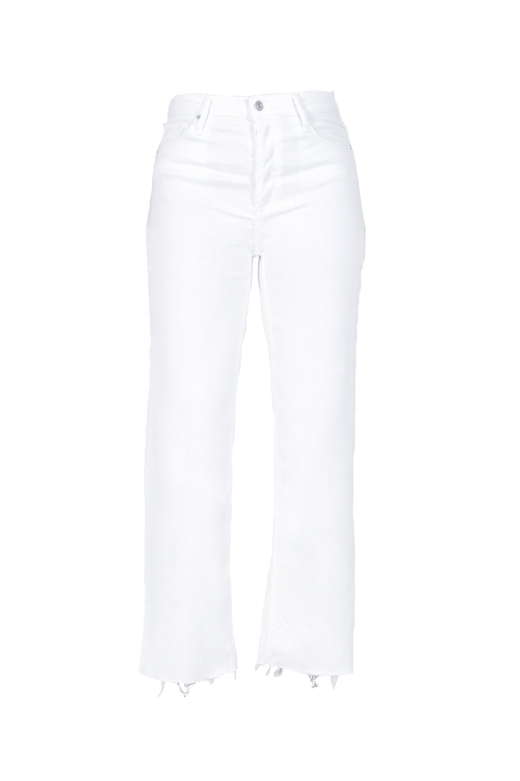 Marisa Relaxed Straight Fray Jeans - Snow White-1