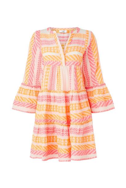 Short Dress Neon Ella - Neon Pink / Neon Orange