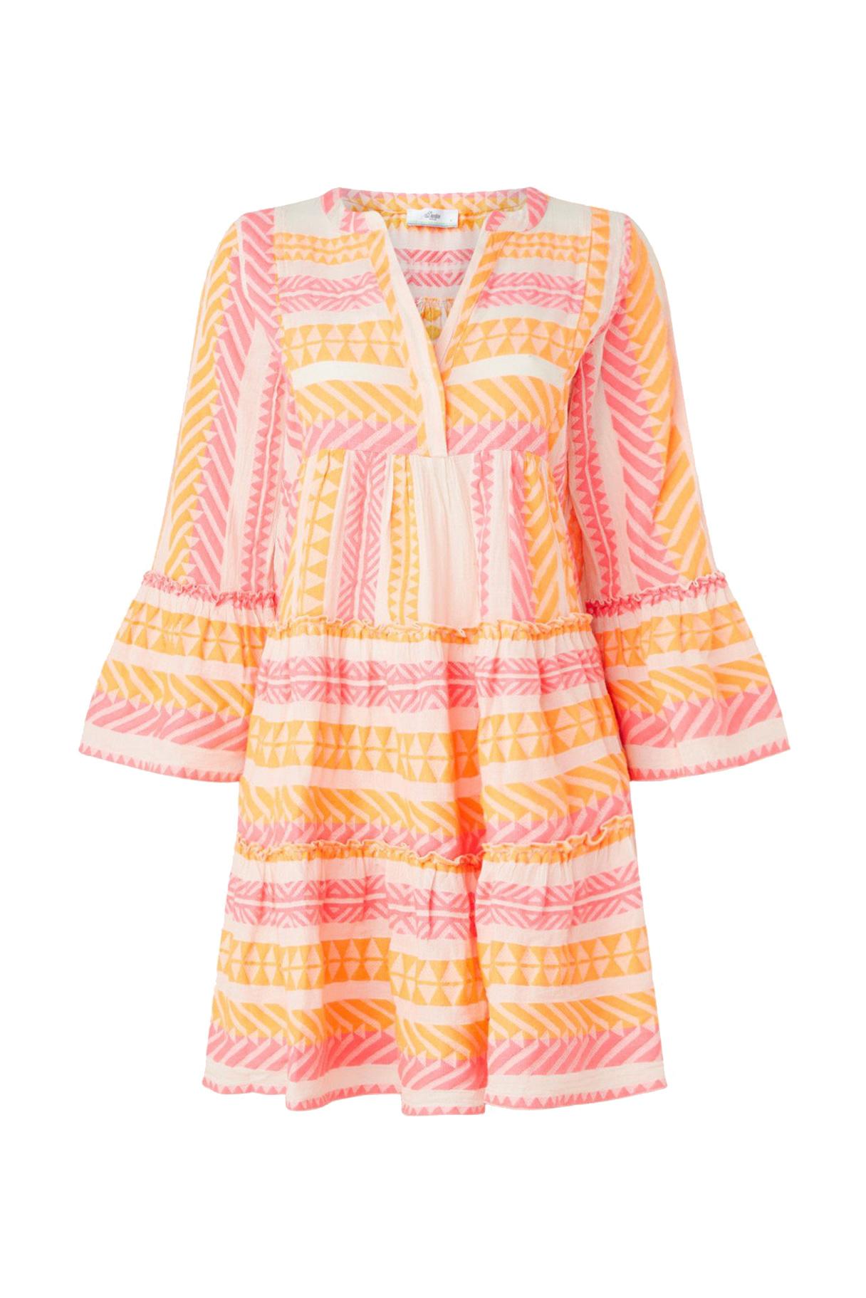 Short Dress Neon Ella - Neon Pink / Neon Orange-1
