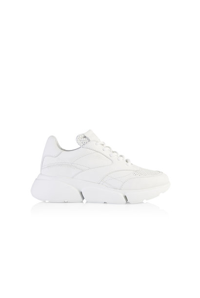 Cleo Leather Sneakers - White Garda
