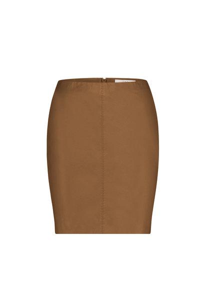Senna Leather Skirt - Cognac