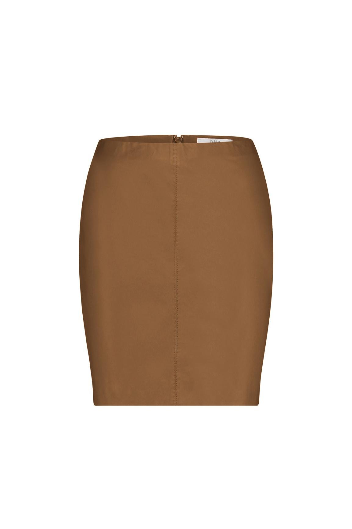 Senna Leather Skirt - Cognac-1