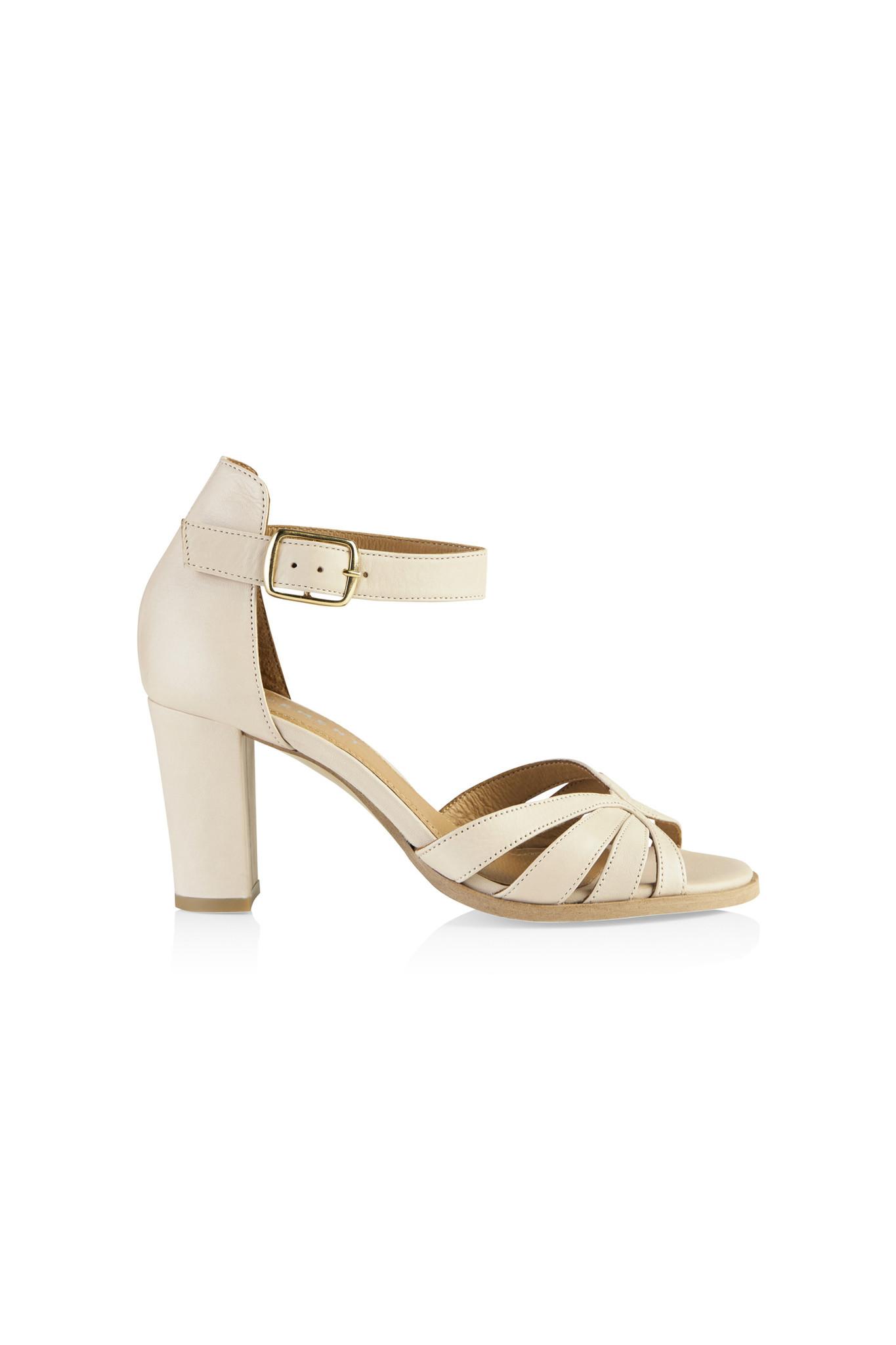 Gillian Leather Sandal - Off White-1