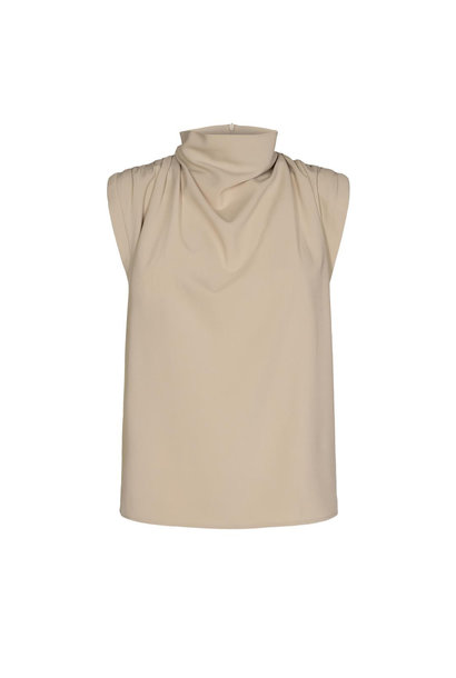 Diya Drape Top - Bone
