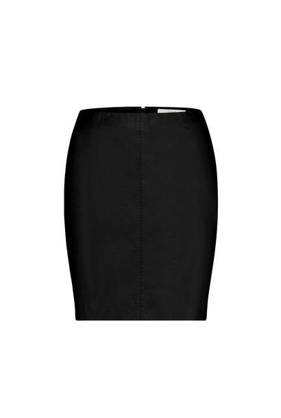 Senna Leather Skirt - Black