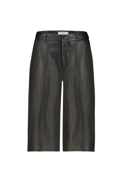Palma Leather Culotte - Black