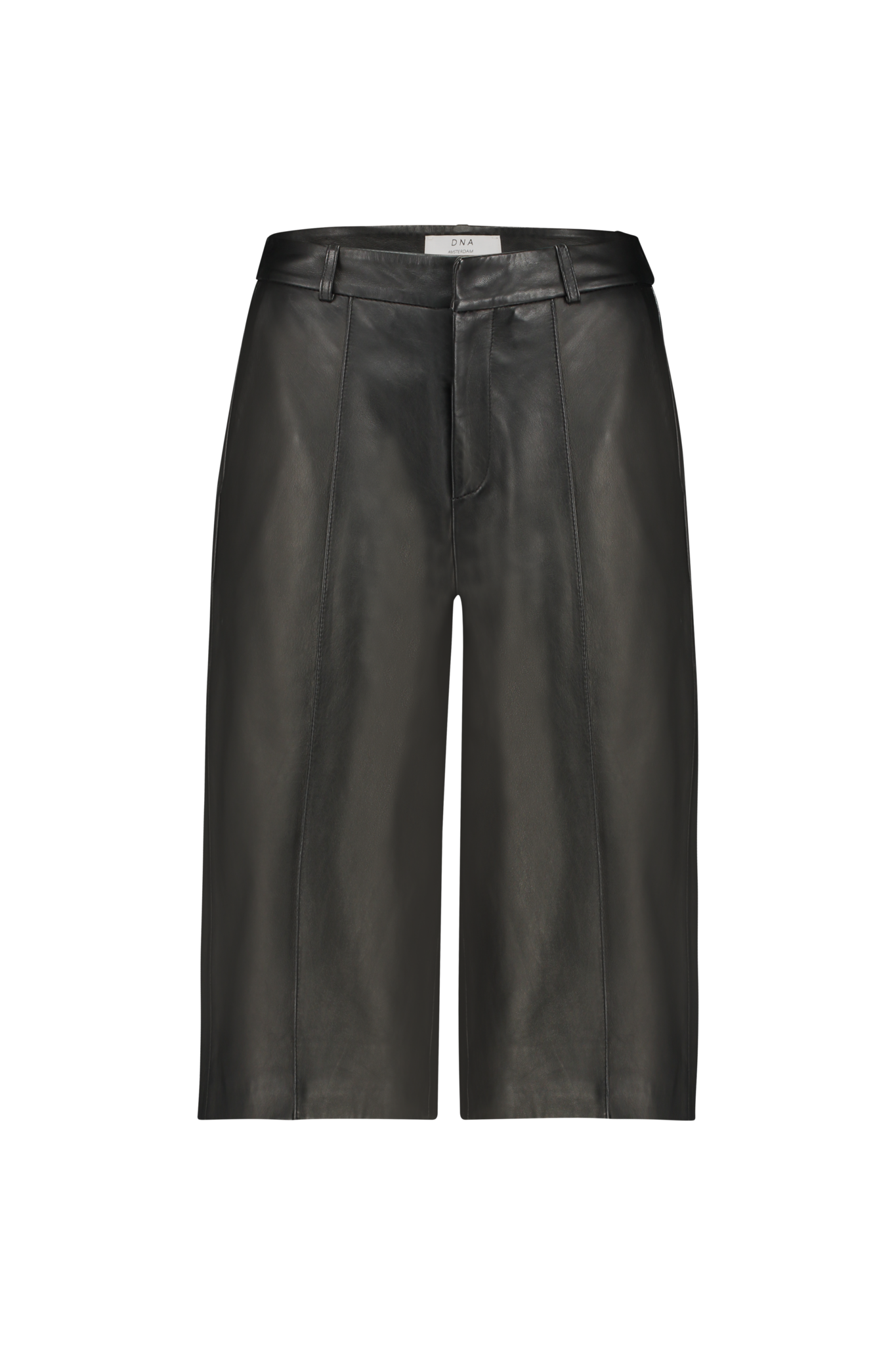 Palma Leather Culotte - Black-1