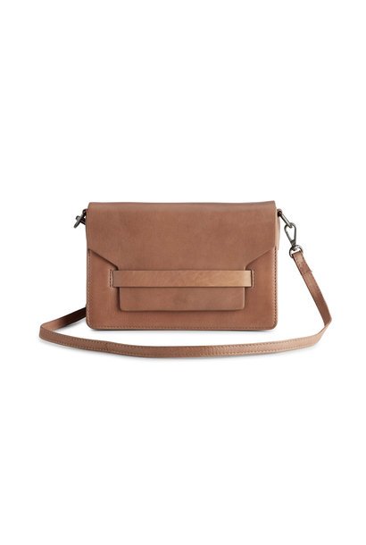 Arabella Crossbody Bag - Antique Caramel w/ Black
