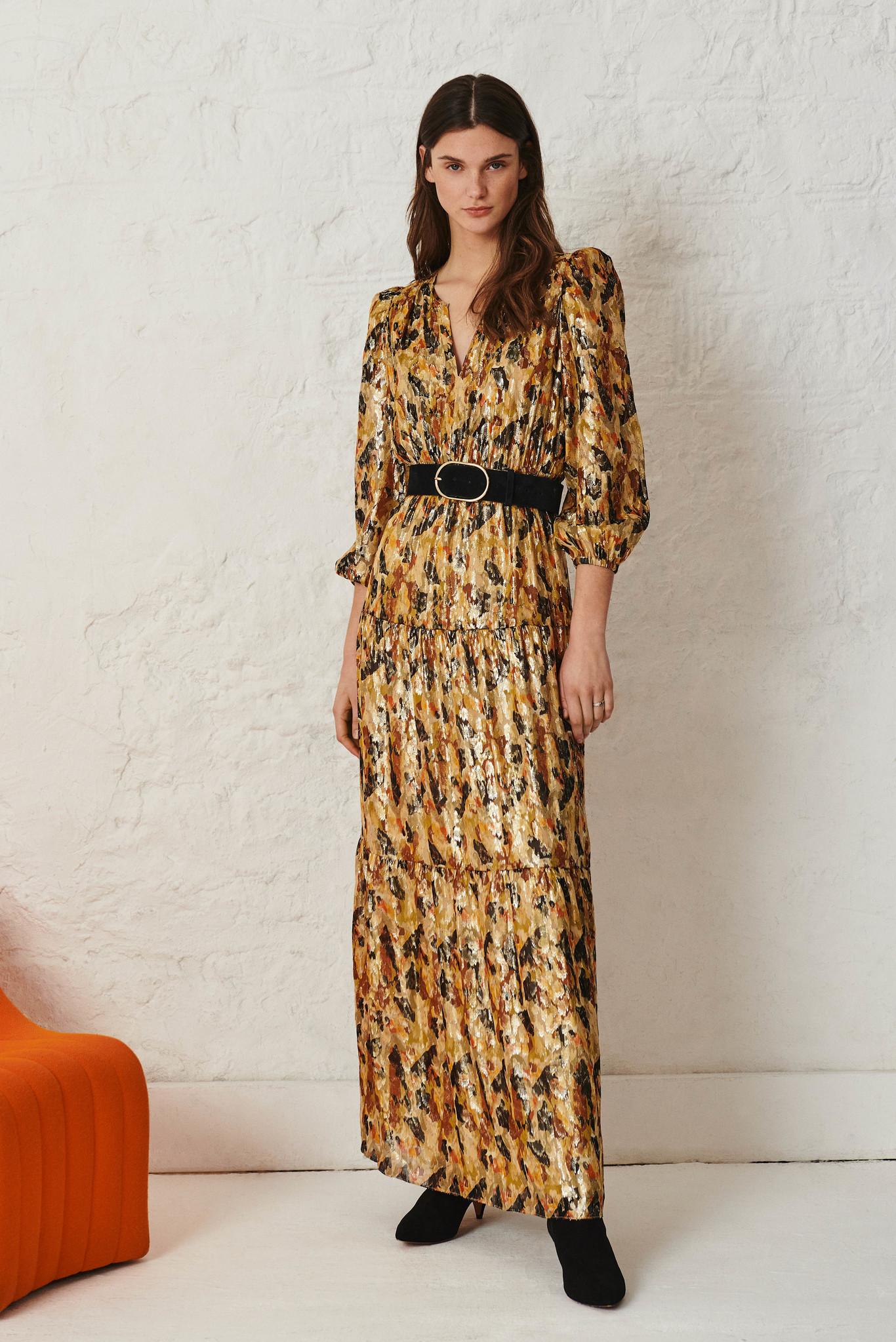 Gullian Dress - Oker-2