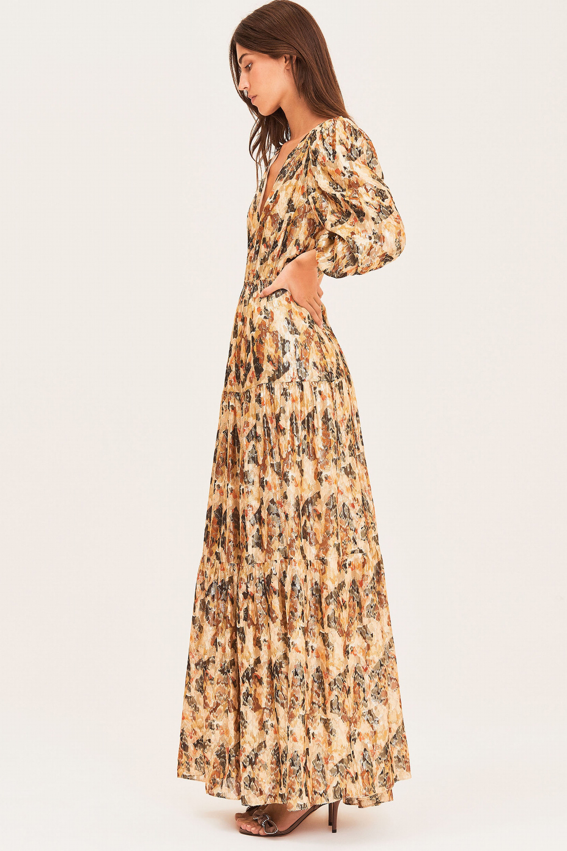Gullian Dress - Oker-11