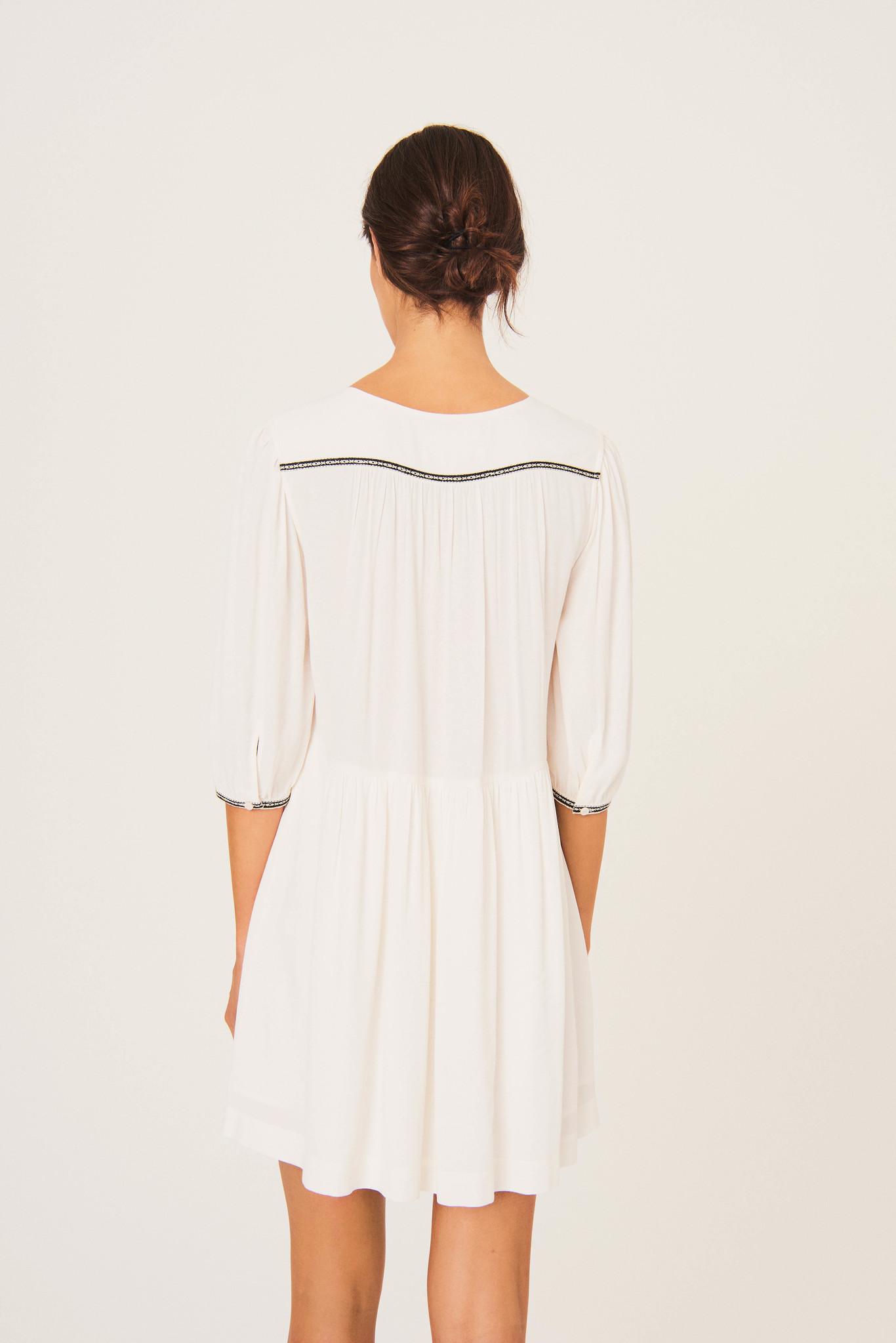 Alma Dress - Ecru-5
