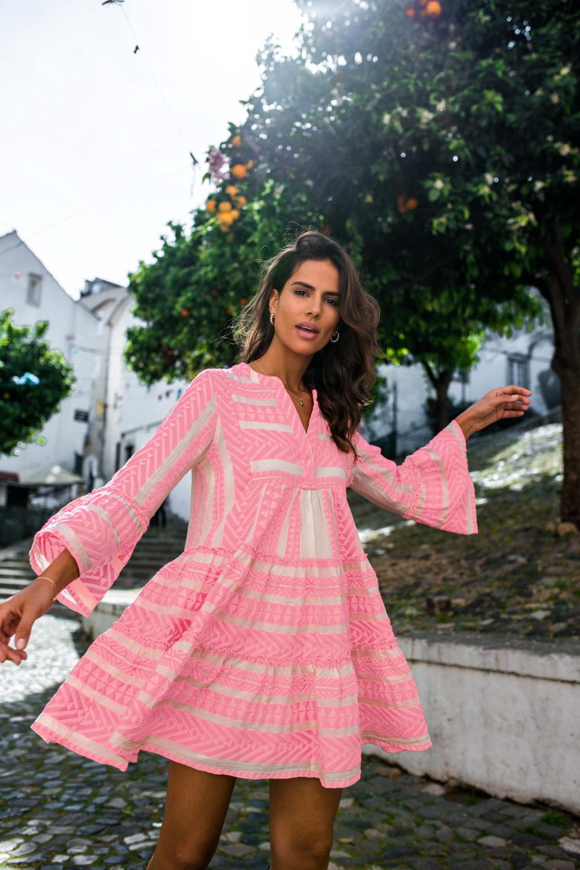 Short Dress Ella - Pink-2