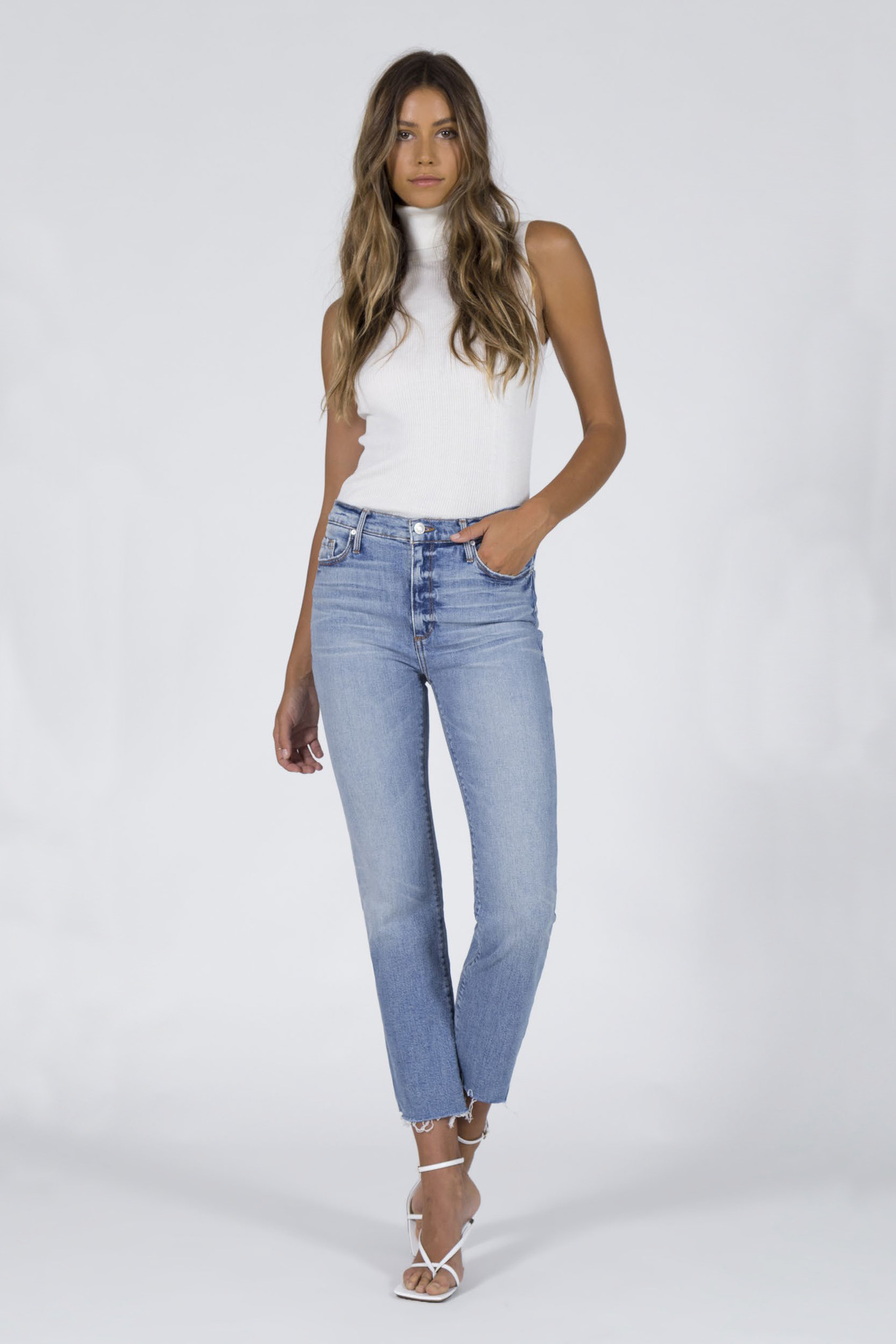 Brooke Straight Crop Jeans - Money Play-1