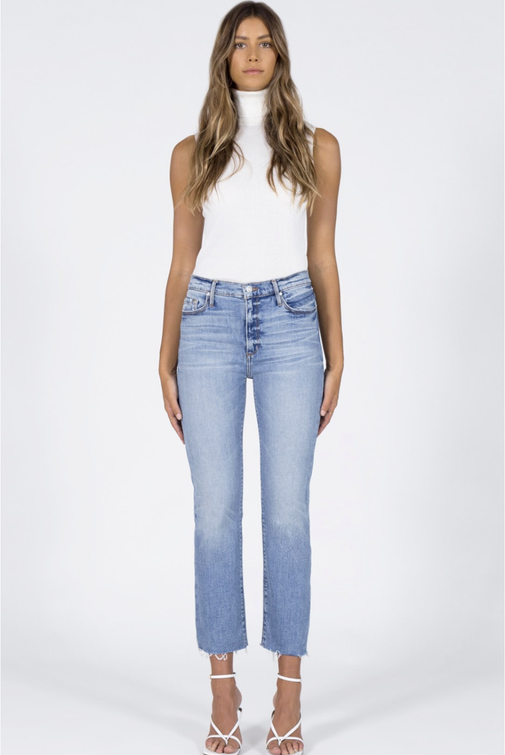 Brooke Straight Crop Jeans - Money Play-2