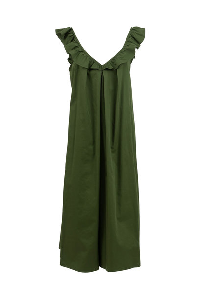 Midi Sleeveless Dress - Olive