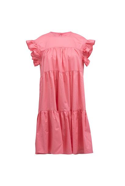 Short Dress with Ruffles - Pink