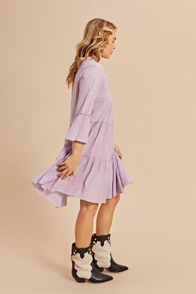 Dress Midi - Blue-5