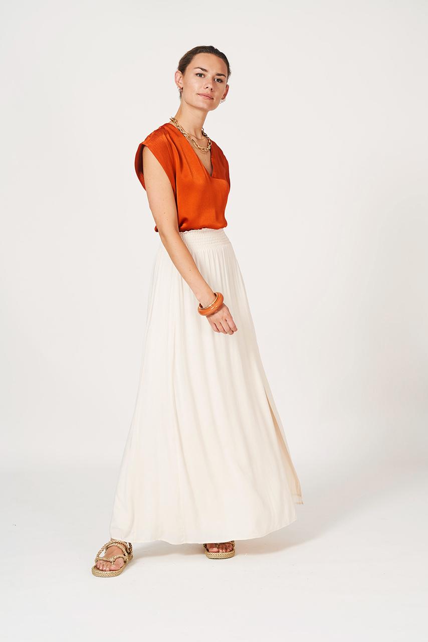 Mahina Long Skirt - Butter Cream-2