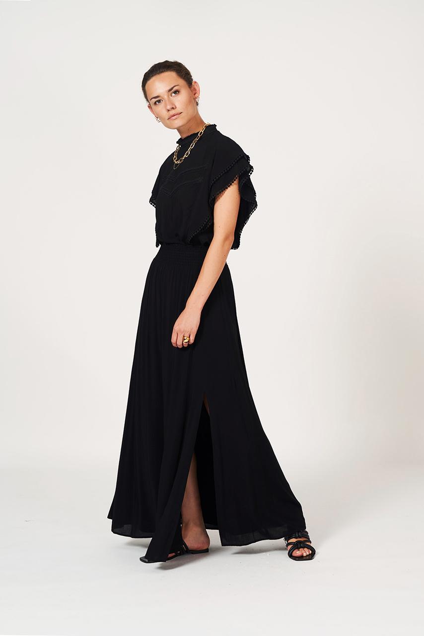Mahina Long Skirt - Raven-2