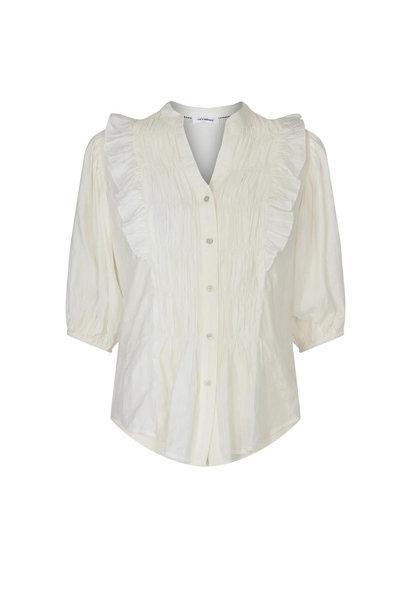 Avery Smock Shirt - Gebroken Wit