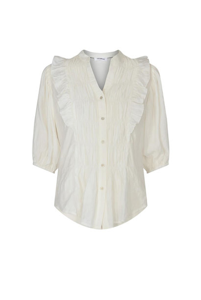Avery Smock Shirt - Off White