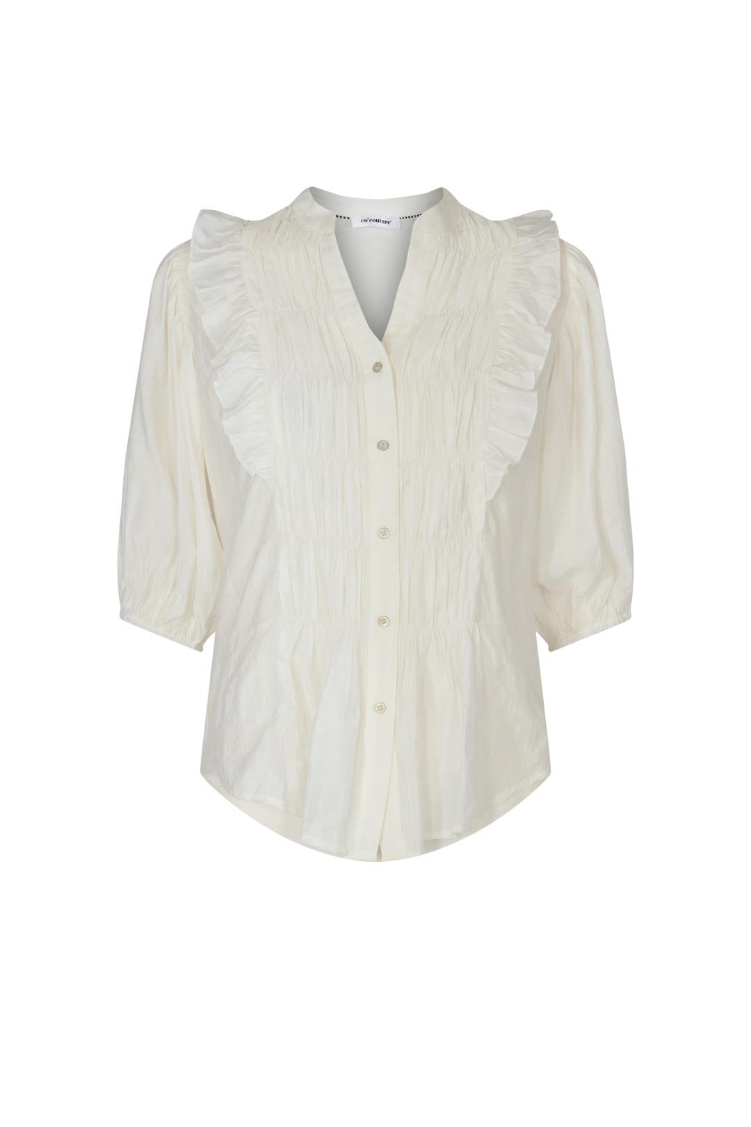 Avery Smock Shirt - Off White-1