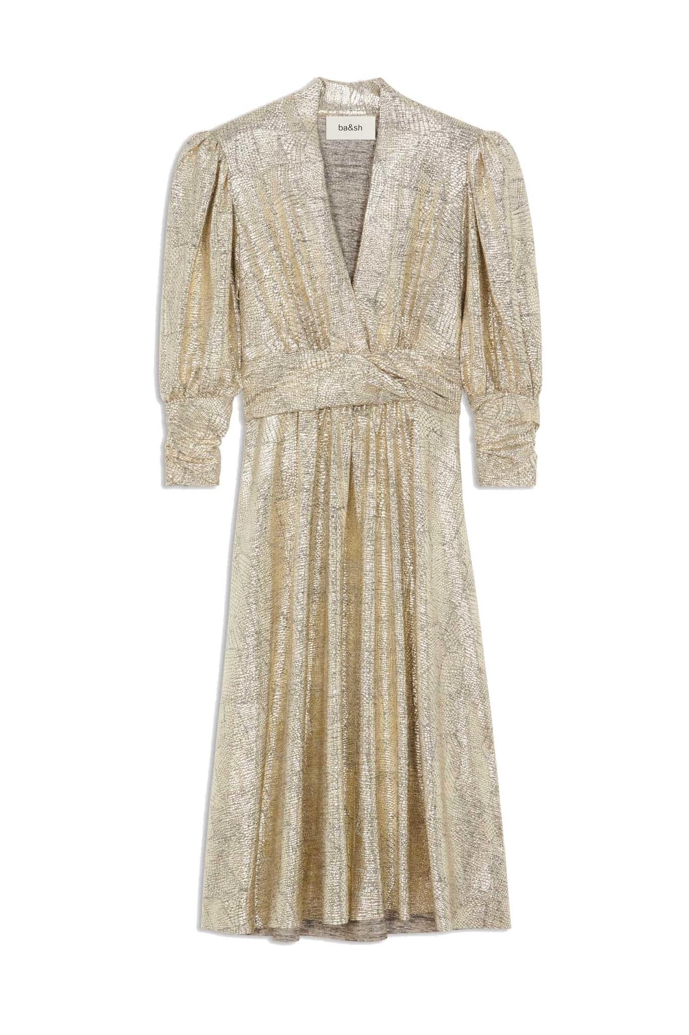 Roza Dress - Gold-1