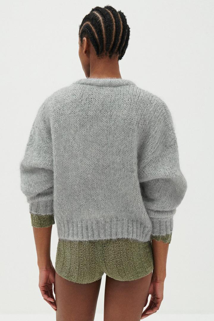 Vogbay Cardigan - Grey Melange-5