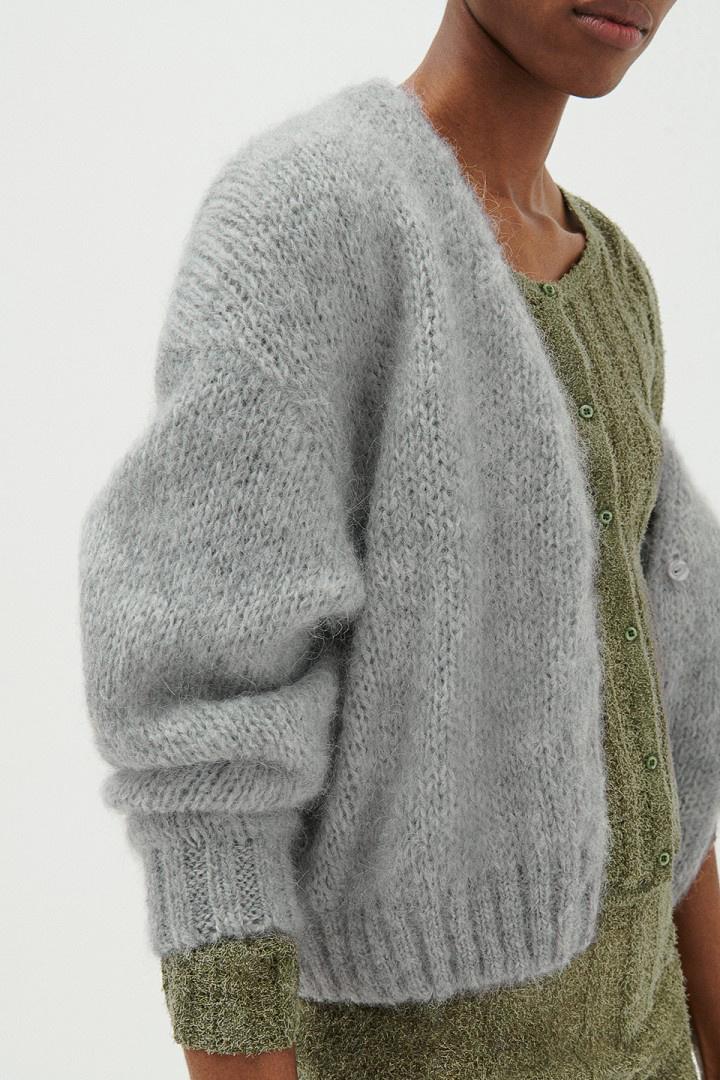 Vogbay Cardigan - Grey Melange-3