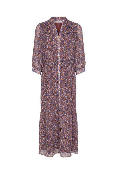 Amore Flower Smock Dress - Purple