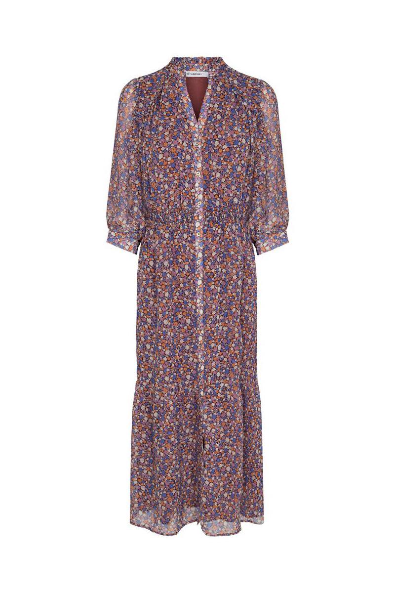 Amore Flower Smock Dress - Purple-1