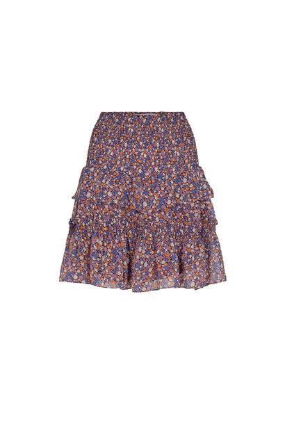 Amore Flower Smock Skirt - Purple
