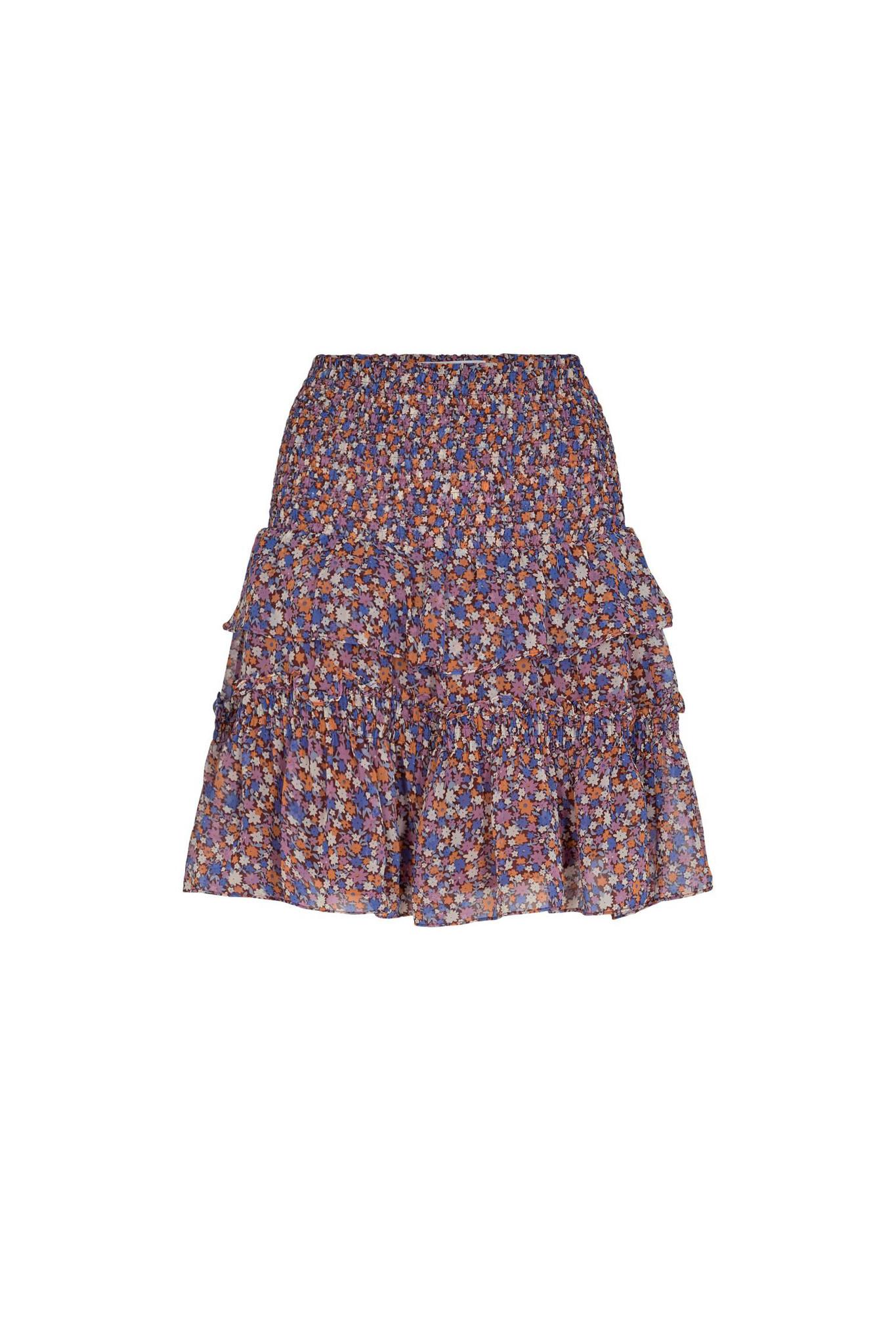 Amore Flower Smock Skirt - Purple-1