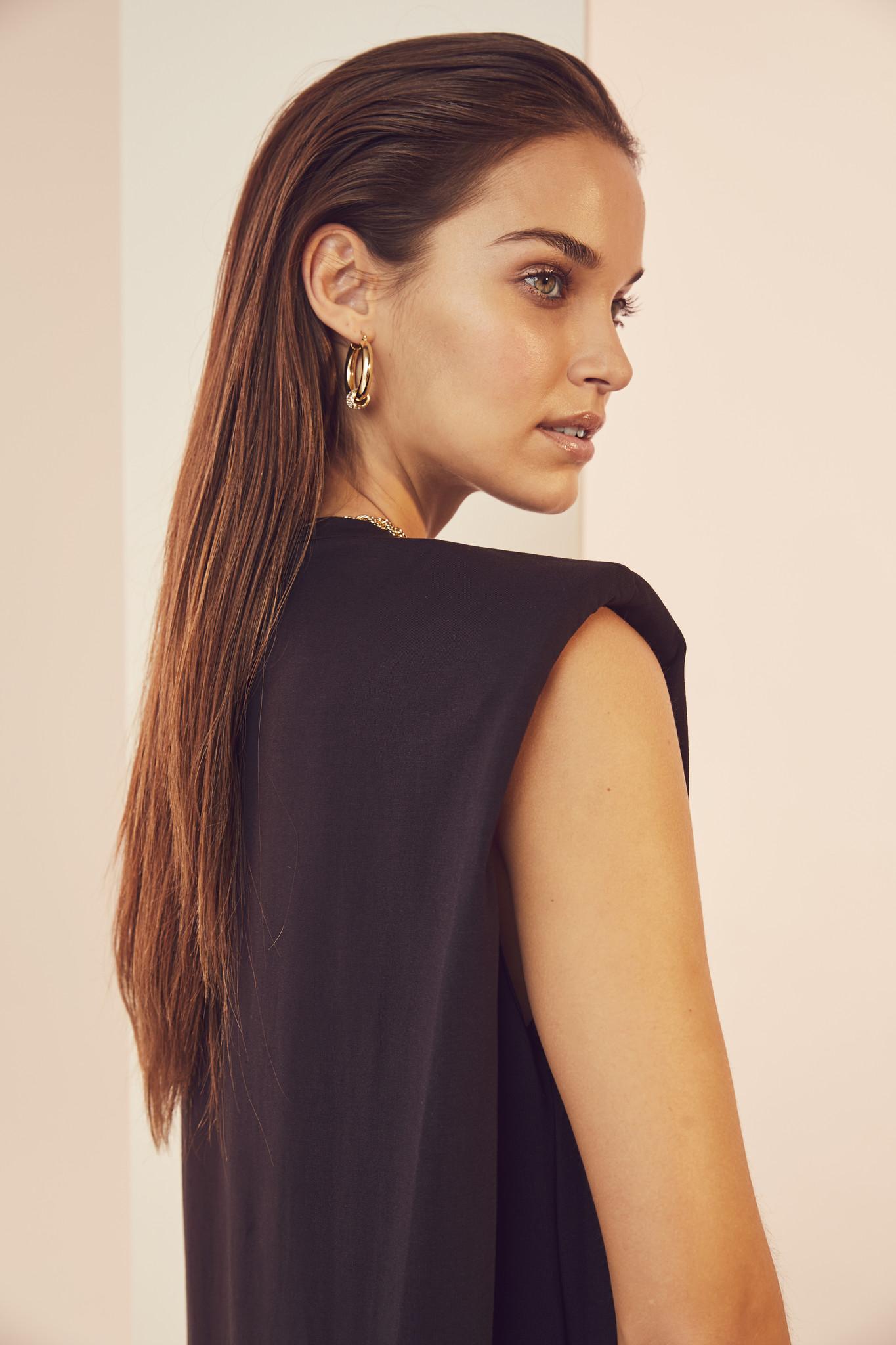 Eduarda Tee Dress - Black-4