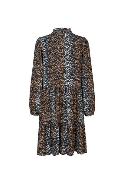 Taylor Leopard Short Dress - Leopard