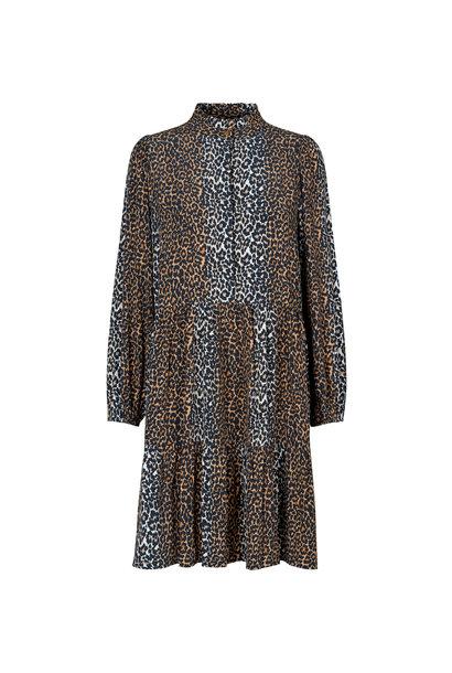 Taylor Leopard Korte Jurk - Leopard