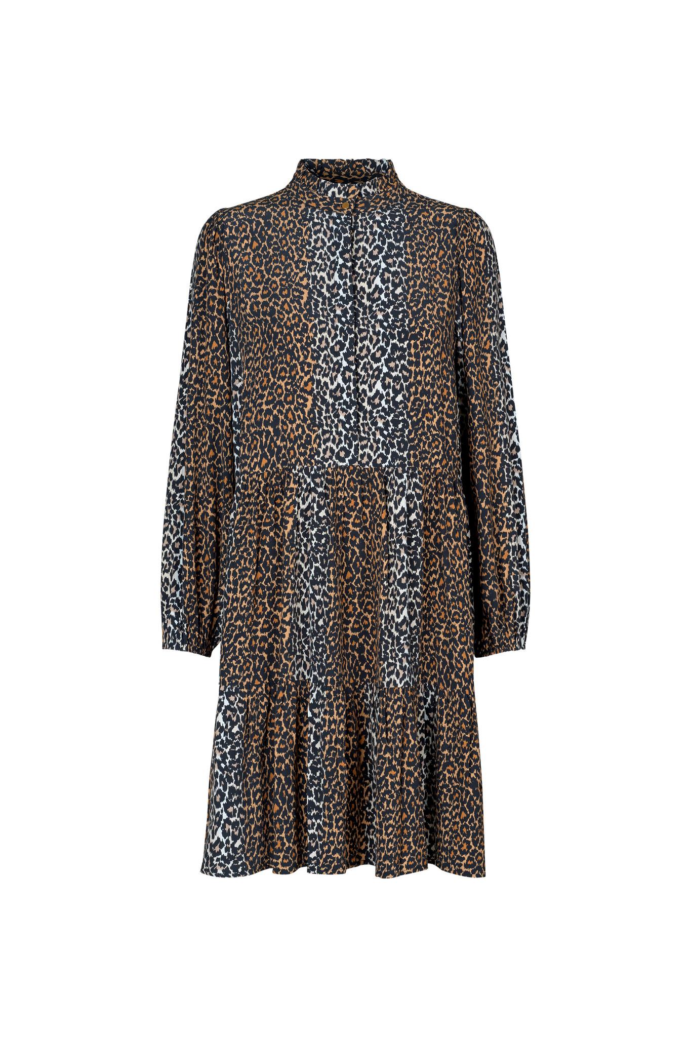 Taylor Leopard Korte Jurk - Leopard-1