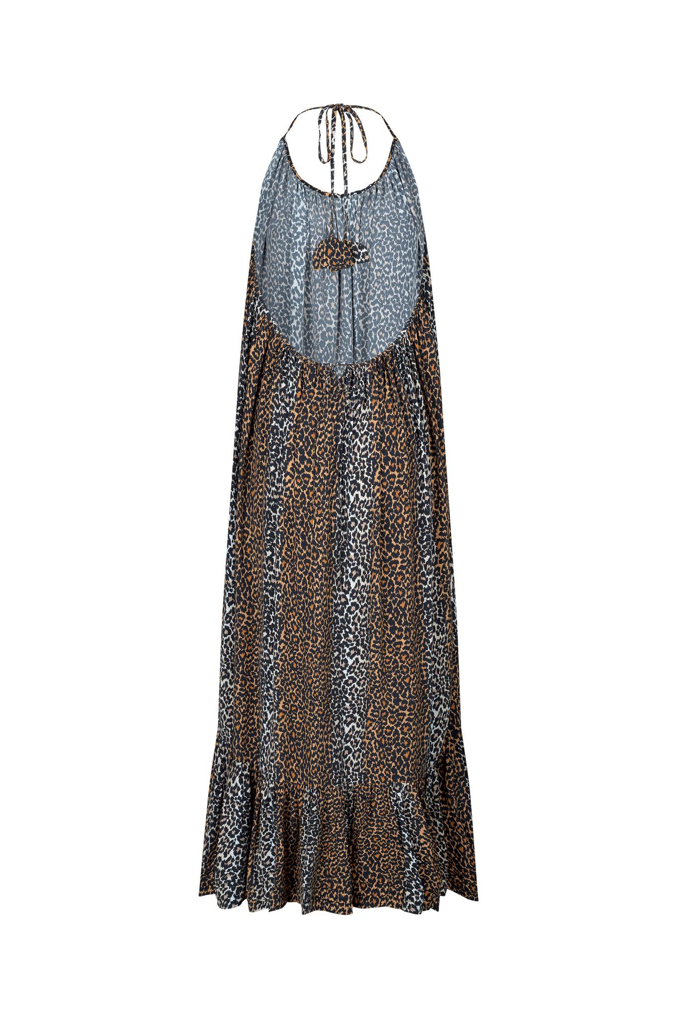 Taylor Leopard Halterneck Dress - Leopard-6