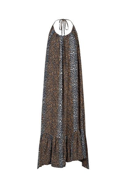 Taylor Leopard Halterneck Dress - Leopard