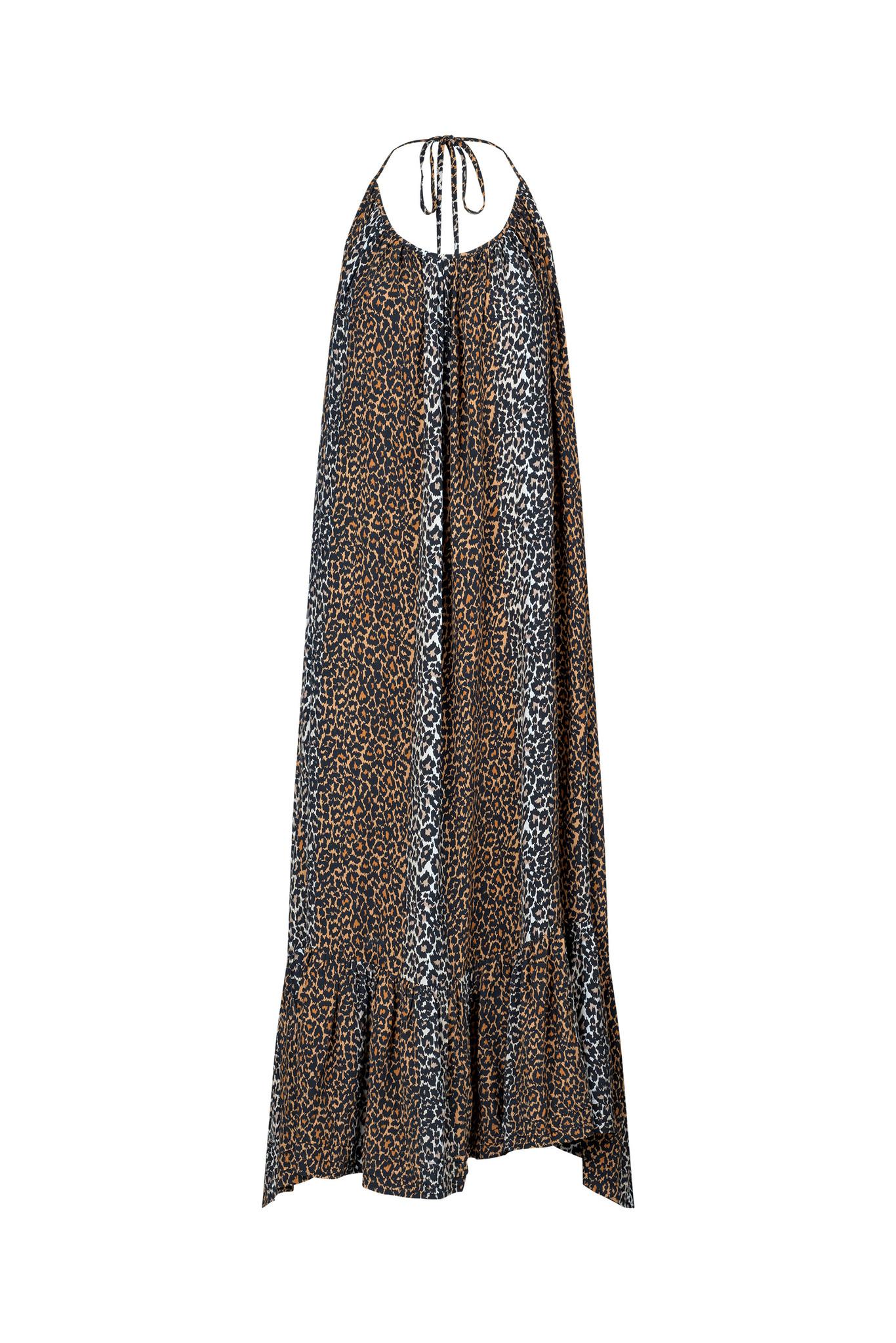 Taylor Leopard Halterneck Dress - Leopard-1