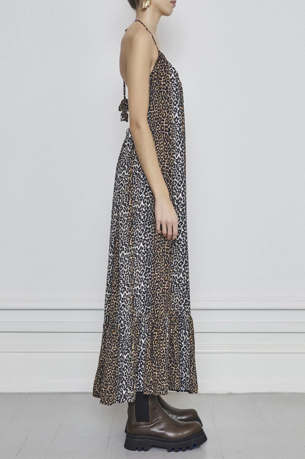 Taylor Leopard Halterneck Dress - Leopard-3