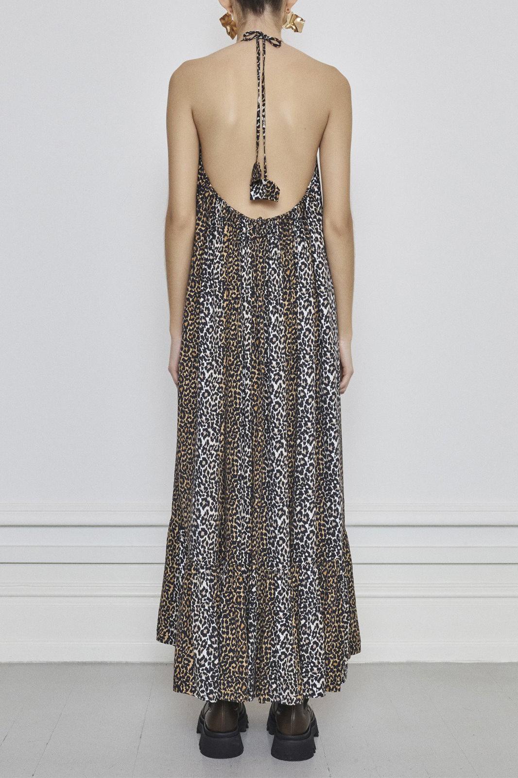 Taylor Leopard Halterneck Dress - Leopard-4