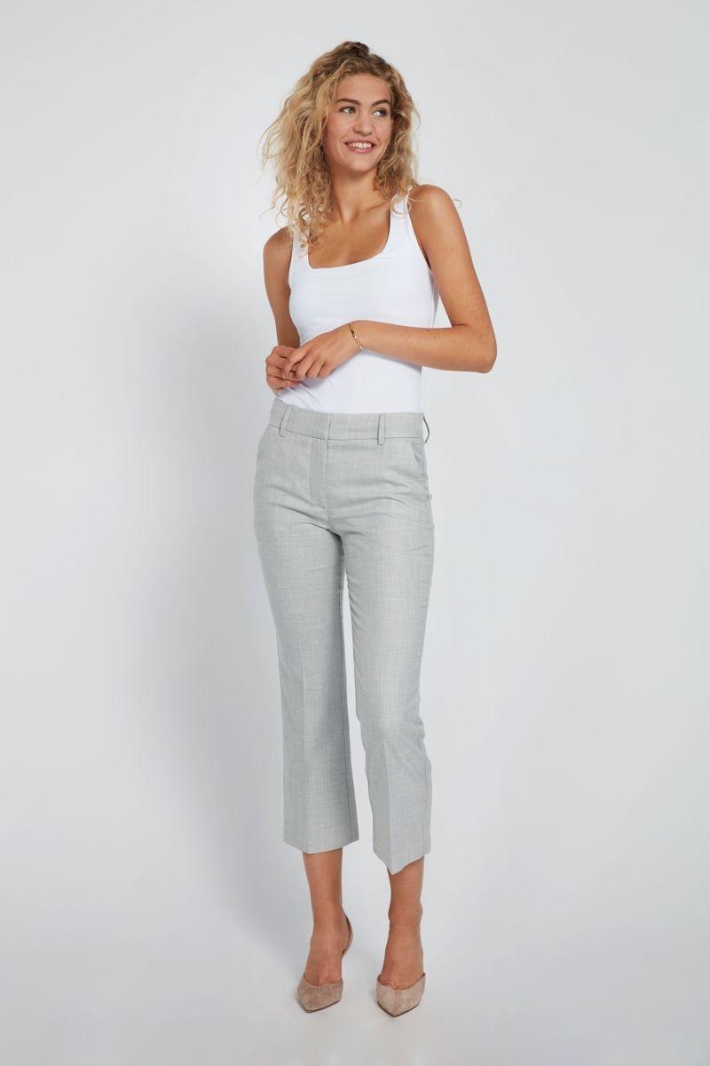 Clara Crop 721 Pant - Grey Melange-2