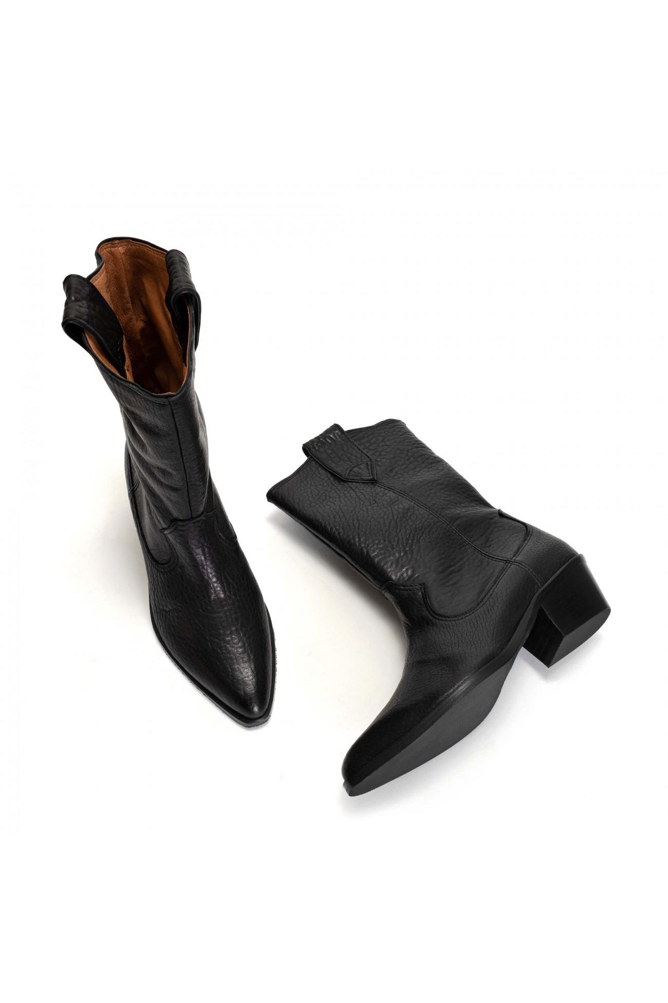 Saseline 35 Heavy Grain Calf Boot - Black-3